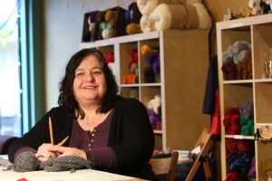 A match and business advice through MicroMentor helped Rose Sabel Dodge get her fiber arts and crafts business off to a good start. Photo: Ian Wagreich for MicroMentor