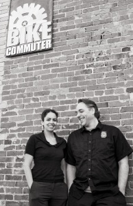 Eric and Naihma Deady, Bike Commuter. Photo by Juan Carlos Delgado jcdphoto.com